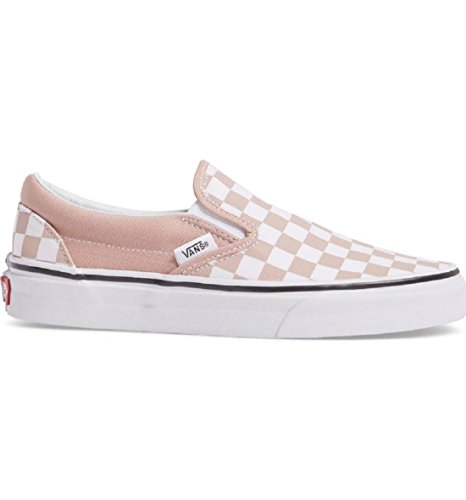 Vans Unisex Checkerboard Slip-On Mahogany Rose True White Sneaker - 6