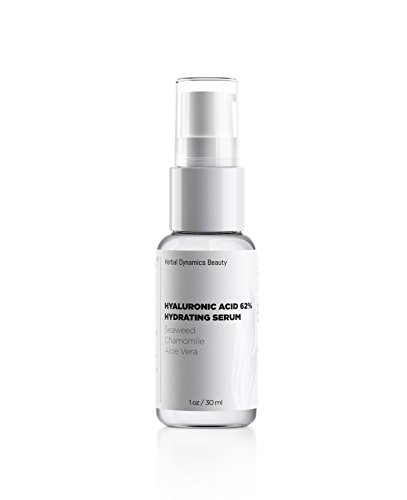(HD Beauty Hyaluronic Acid 62% Hydrating Serum with Aloe, Vitamin C, and Chamomile for Anti-Aging, Radiance and Facial Plumping, 1 oz. )
