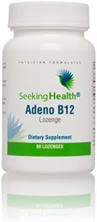 Seeking Health | Adeno B12 Supplement | 3,000 mcg Adenosylcobalamin | 60 Vitamin B12 Lozenges | Free of Common Allergens and Magnesium Stearate
