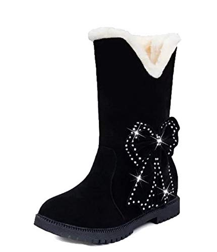 Toe Color Kitten AalarDom TSDXH119479 Frosted Closed On Women's Assorted Boots Black Heels Pull qxIUgzw