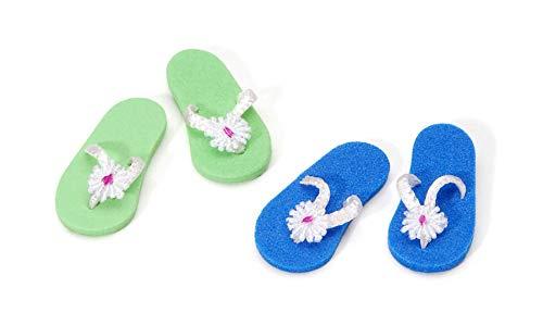 Miniature - Flip Flops - 1 inch - 2 pieces, Assorted Colors