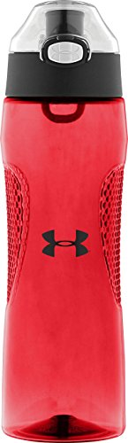 Under Armour Elevate 22 Ounce Tritan Bottle with Flip Top, Hot Coral