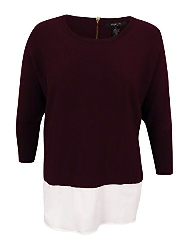 Style & Co. Womens Plus Layered Dolman Sleeves Pullover Sweater Purple 1X by Style & Co.