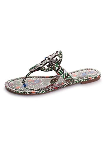Tory Burch Women's Miller Flip Flop Sandal Orange Something Wild 7.5 M ()
