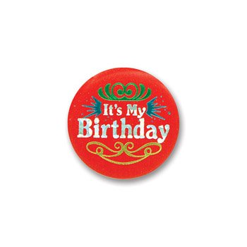 Beistle Party Supply, (Birthday Button Pin)