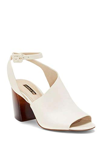 LOUISE ET CIE Womens Kyvie Leather Open Toe Casual Ankle Strap, White, Size 8.0