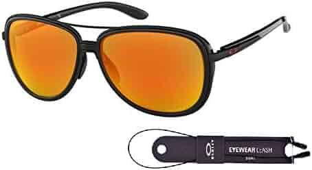 5f6e76254ec5 Oakley Split Time OO4129 Sunglasses For Men For Women+BUNDLE with Oakley  Accessory Leash Kit