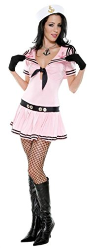 Forplay Womens Sassy Sailor Navy Nautical Marine Outfit Fancy Dress Sexy Costume, XL (10-14) (Sexy Nautical Costume)