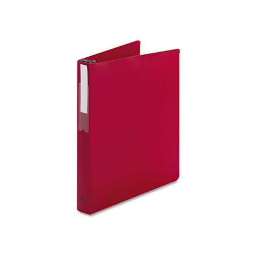 NEW - Hanging File Poly Ring Binder, 1amp;quot; Capacity, Red - 14803