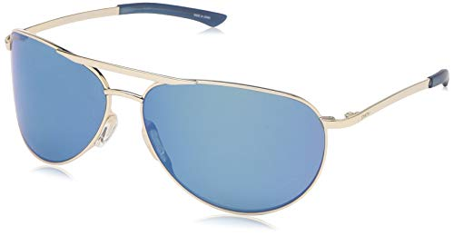 Polarized Mirror Blue Glass - Smith Serpico Slim 2 ChromaPop Polarized Sunglasses, Gold, Blue Mirror Lens
