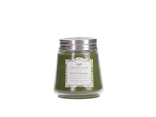 (GREENLEAF Scented Petite Candle - Burns 30-40 Hours - Silver Sprce )