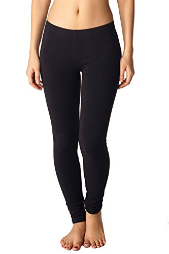 Womens Cotton Spandex Leggings by In touch in Black, -