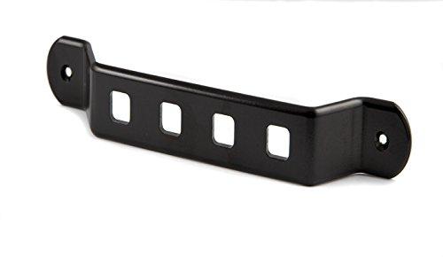 Motamec Alloy Inner Car Door Handle - Black Anodized Finish Aluminium