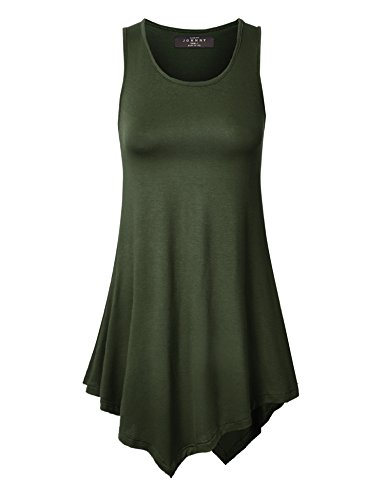 Womens Sleeveless Comfy Tunic Various