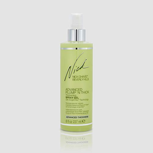 Nick Chavez Beverly Hills Advanced Plump N Thick Thickening Spray Gel - Hair Thickener For All Hair Types - Keratin and Jojoba - 8 Fl Oz.