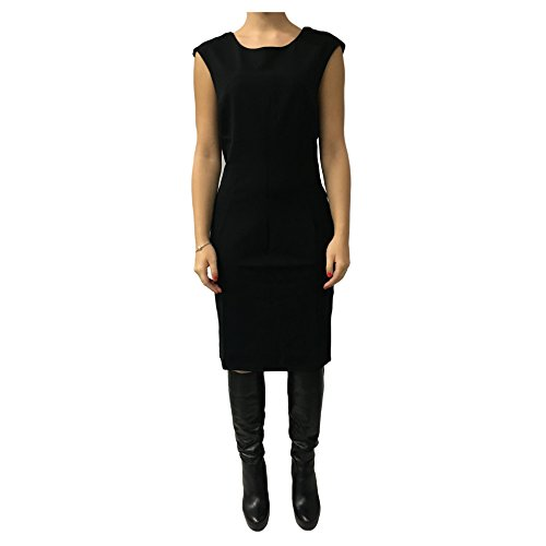 LA FEE MARABOUTEE abito donna nero mod FA1125 MADE IN ITALY