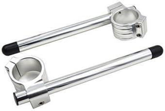 Anzene 31//33//35//37//39//41mm Fork Clip-ons Handlebars CNC Riser Regular Handlebar Black, 35mm