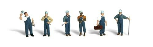 Accents Scenic Figures (Woodland Scenics O Scale Scenic Accents Figures/People Set Train Mechanics (6))