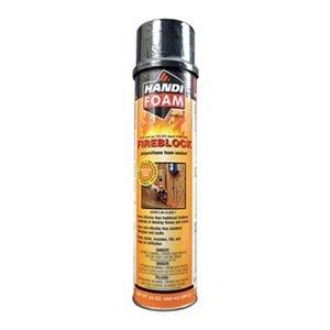 Fireblock Foam Sealant, Straw, 12 oz, PK12 by Handi-Foam