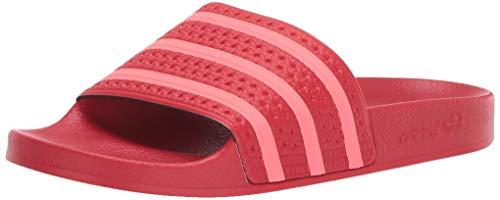 adidas Originals Women's Adilette Slide Sandal, Flash red/Scarlet, 5 M ()