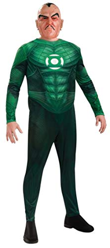 (Green Lantern Deluxe Sinestro Costumes With Muscle Chest, Green,)