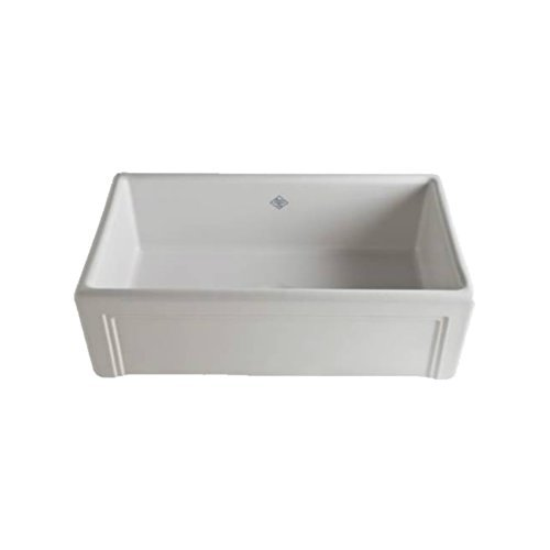 Rohl Shaw Apron Sink (Rohl RC3017WH Shaws 30-Inch Farmhouse Fireclay Kitchen Sink with Decorative Casement, White)
