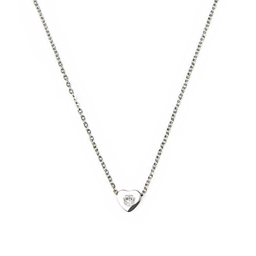 ogo 0.35 inch diameter heart type water prove necklace fashion and cool (BTS B) ()