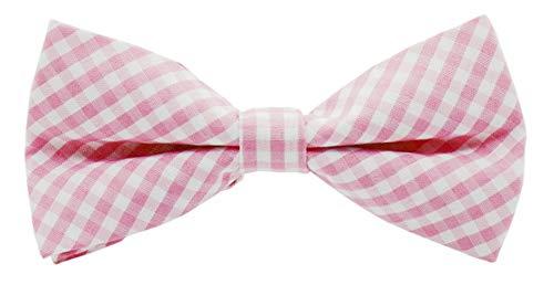 Flairs New York Little Gentleman's Kids Bow Tie (Baby Pink White [Plaids])