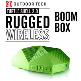 Outdoor Technology Turtle Shell 2.0 Rugged Water-Resistant Wireless Bluetooth Hi-Fi Speaker (Green)