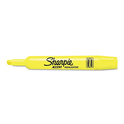 Product of Sharpie - Accent Tank Style Highlighter, Chisel Tip, Fluorescent Yellow - 36/Box - Highlighters [Bulk Savings]