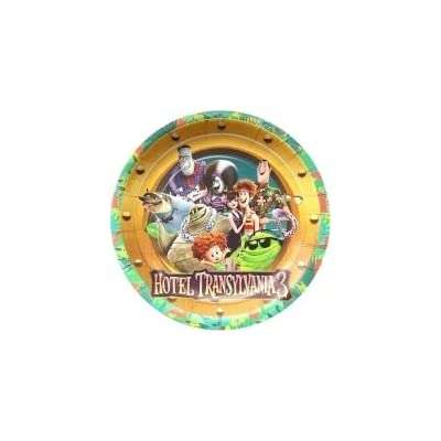 Gallmark Hotel Transylvania Summer Vacation Movie 3 Party Plates Cake Birthday Supplies Blue Decoration Movie - 6 PC: Toys & Games