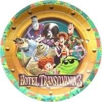 Gallmark Hotel Transylvania Summer Vacation Movie 3 Party Plates Cake Birthday Supplies Blue Decoration Movie - 6 PC