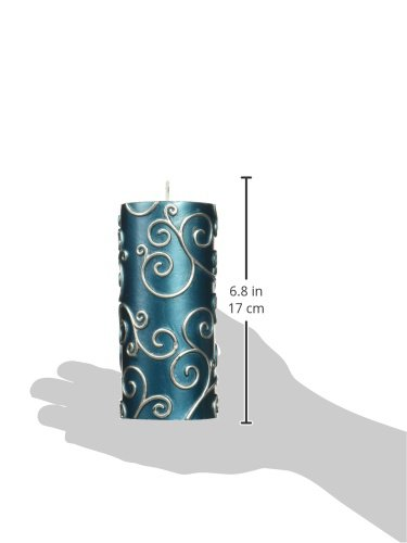 Zest Candle CPS-008_12 12-Piece Scroll Pillar Candle, 3'' x 6'', Blue by Zest Candle (Image #2)
