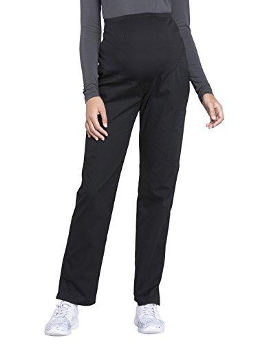 Cherokee WW Professionals WW220 Maternity Straight Leg Pant Black M Tall