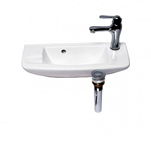 Renovator's Supply Small Wall Mount Bathroom Vessel Sink White 20
