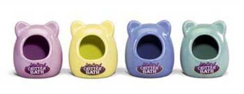 Kaytee Ceramic Critter Bath, Small, Colors Vary