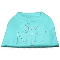 UPC 099994078881, Mirage Pet Products Bad Kitty Rhinestud Shirt Aqua XXXL(20)