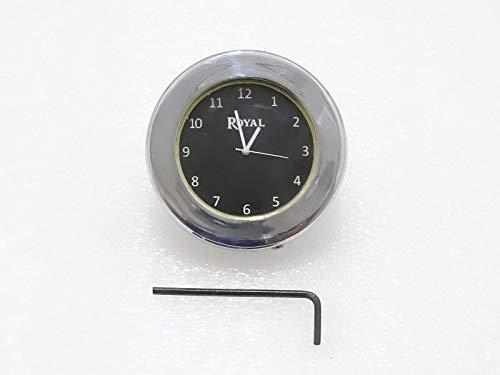 Stem Nut Clock - Royal Crusaders ROYAL ENFIELD BLACK DIAL BRASS CHROME STEM NUT CLOCK WATCH