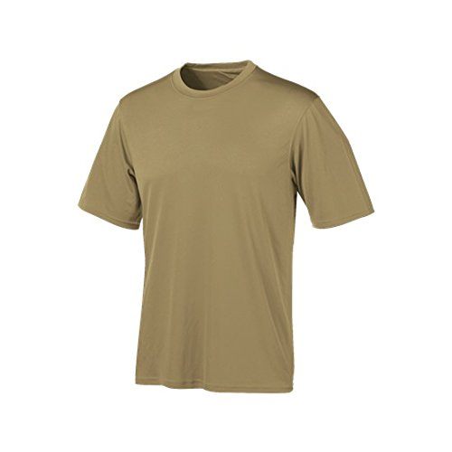Champion Tactical Men's Short Sleeve Double Dry T-Shirt, Desert Sand, Large ()