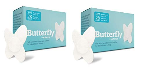 Butterfly® Pads / Body Liners for Bowel Leaks - Womens S/M 28 Count 2 Pack