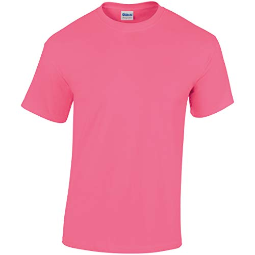 Pink Cotton safety Small Maglietta Tee Gildan Heavy Uomo q0WcH441a
