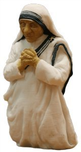 """Mother Teresa Sculpture, 6"""" by American Artist J. London; produced with permission of the Missionaries of Charity. Limited Edition. Rare, Fine Art,1994. Now, to honor the new Saint."""