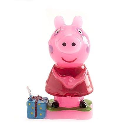 Dekora 346089 Candle with Peppa Pig Design, 7.5 cm