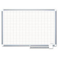 -- MasterVision Grid Planning Board, 1x2 Grid, 36x24, White/Silver by MOT3