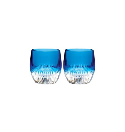 Waterford Crystal Mixology Argon Blue Tumbler, Set of 2