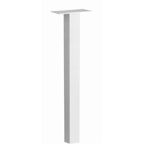 White Standard Mailbox Post - Architectural Mailboxes Oasis In-ground Post, White