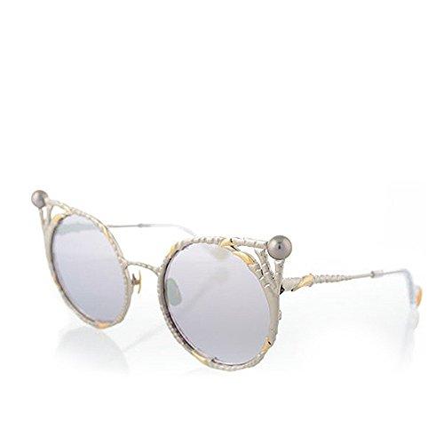 Anna-Karin Karlsson White And Gold Claw Pear - Sunglasses Karin Anna