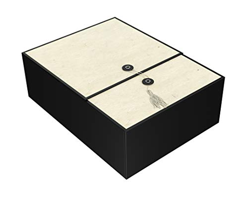Gift Box Ivory Karma 12x9x4 Pop up in Seconds Comes with Decorative Tassel, Greeting Card, and Tissue Paper - No Glue or Tape Required