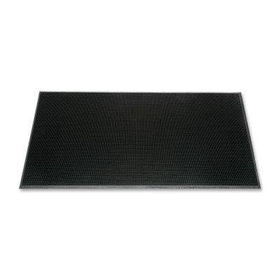 SKILCRAFT Scraper Mat, 5/8quot; Thick, Rubber Fingertip, 24quot;x32quot;, BK Rubber Fingertip Mats