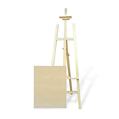 Easel Drawing Board Set Folding Multi-Function Drawing Sketch Art Supplies Watercolor Gouache Oil Painting Wood Display Rack Can Be Raised and Lowered Easel Painting Display Stand